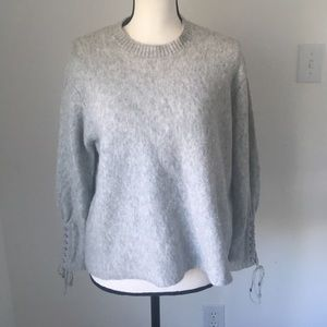3.1 Phillip Lim Textured Lace Up Pullover / Size S